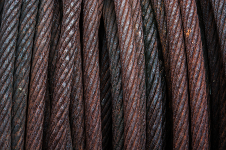rusty wire: rusty wire rope square background