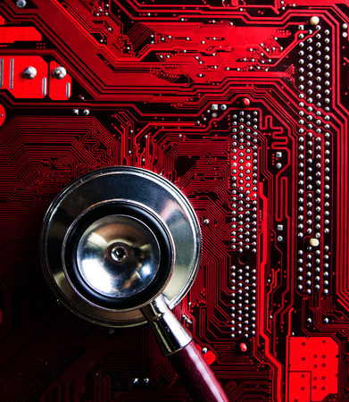 stetoscope: motherboard with stetoscope