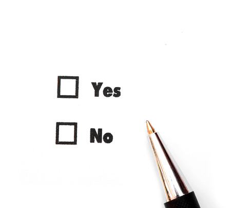 Yes and No check boxes photo
