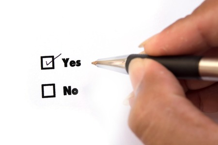 yes or no: Yes and No check boxes, check Yes