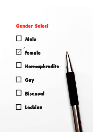 gender select choice Stock Photo
