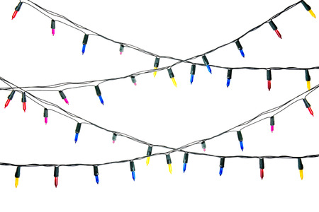 string lights: Christmas lights isolated