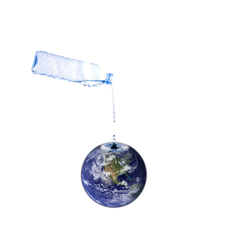 reflection of life: fill water to the world, earth concept