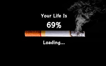 killing cancer: Cigarette loading to death, health concept