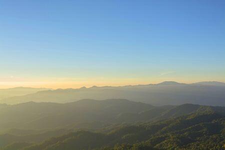 layers: Beautiful Layers of mountain Stock Photo