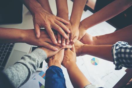Teamwork togetherness collaboration, business teamwork concept. Imagens - 77489866