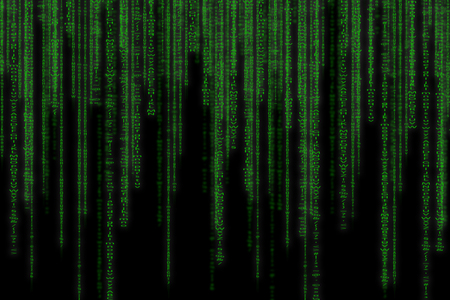 Abstract green technology binary background. Binary Computer Code. Programming Hacker concept.