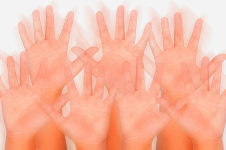 its: Its me hand symbol Stock Photo
