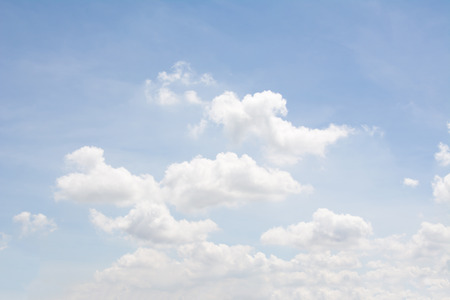 bright sky: Blue sky bright with white cloud background Stock Photo