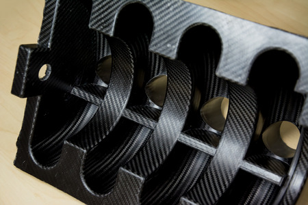 Black carbon fiber composite product material background Stock fotó