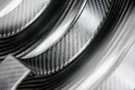 Black carbon fiber composite product material background Reklamní fotografie