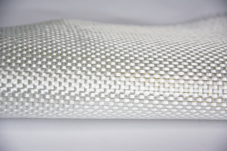 White carbon fiber composite raw material background Stock Photo