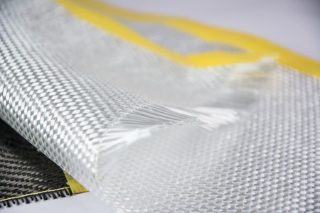 White carbon fiber composite raw material background Banque d'images