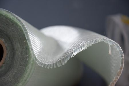 bianco fibra di vetro composito di materiale grezzo sfondo