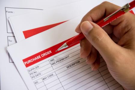 購入の契約の印コンセプト背景金融