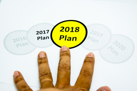2018 new year plan concept
