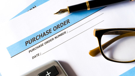 Purchase order for procurement order document of business
