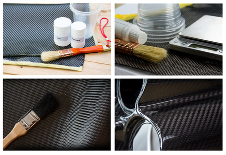 Material of composite product of strong carbon fiber