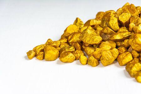 Rare gold stone material original for transform to valuable