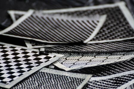 Material of composite product dark carbon fiber