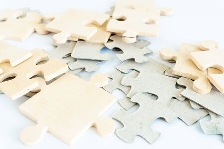 jigsaw on the floor. concept of missing and key success