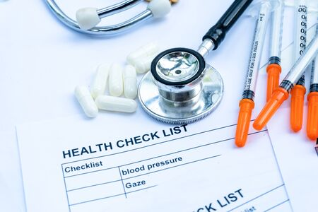 health check list form with equipment checking