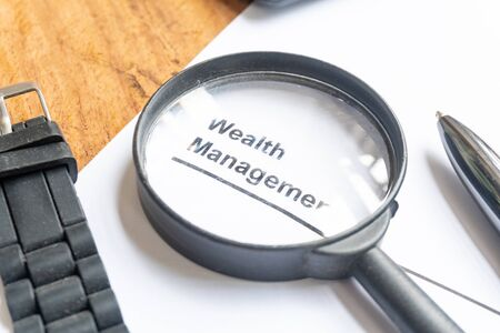 wealth management document of business concept background Standard-Bild - 142932336
