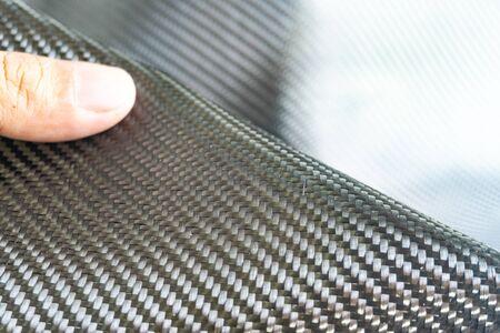 Carbon fiber black raw material composite Standard-Bild - 142932349