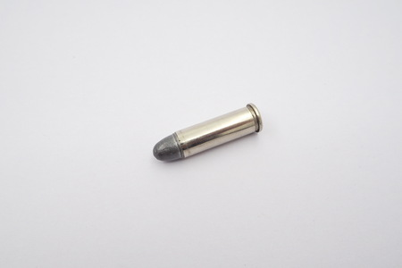 full jacket bullet: bullet isolated on white background