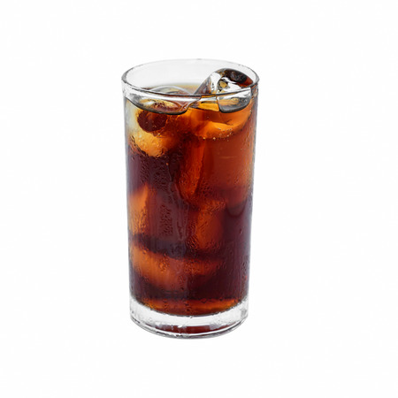 soft drinks: Soft drinks and ice on white with clipping path Stock Photo