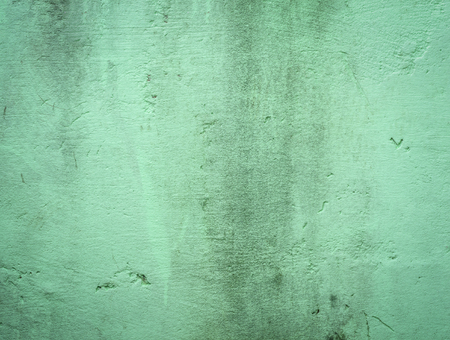 Old green cement wall texture background.