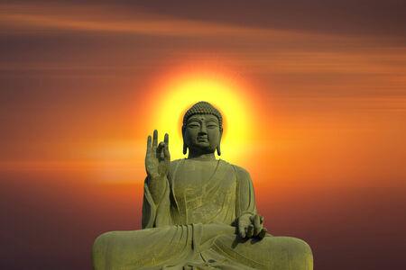 venerable: Statue of Buddha at peace