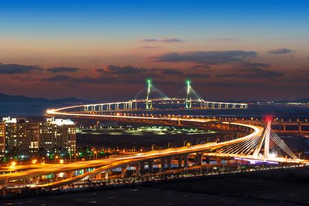 Puente de Incheon en Corea