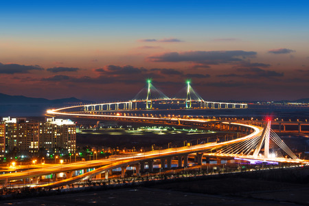 pont d'Incheon en Corée