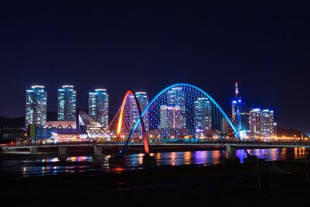 Expro bridge at night in daejeon,korea.