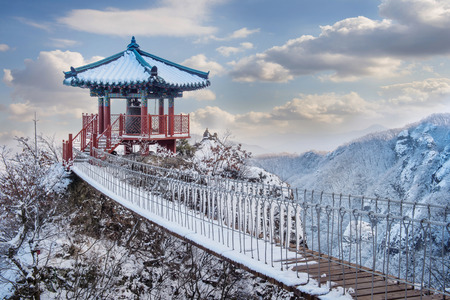 Landscape in winter,Guemosan in korea