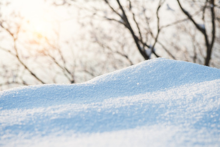 a close up: Fresh snow cover,winter background.
