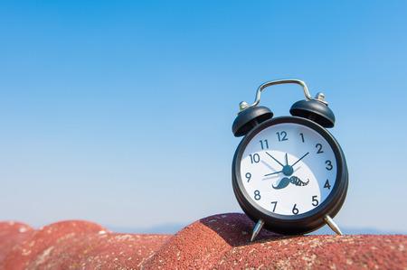 ten empty: Alam clock Stock Photo
