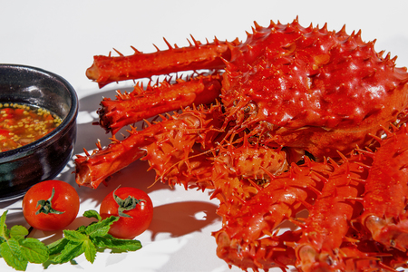King crab, Food crab of legs, alaska food. Stock Photo