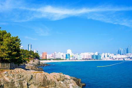 Haeundae sea in busan,Korea Stock Photo