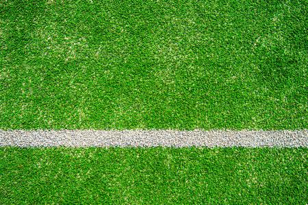 green soccer field. Stock Photo
