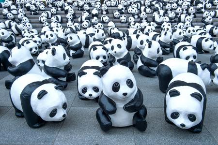 oso panda: esculturas panda.
