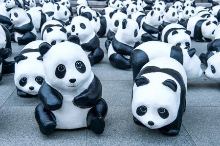 sculptures: panda sculptures.