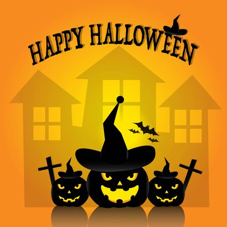 halloween background: Halloween night background. Illustration