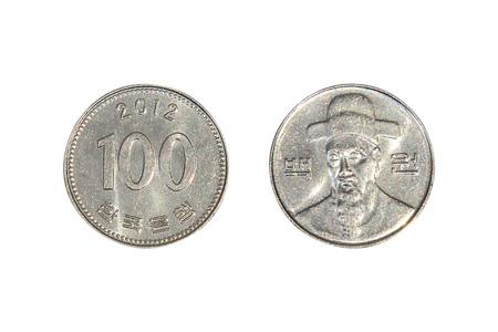 Zuid-Koreaanse Won Coins