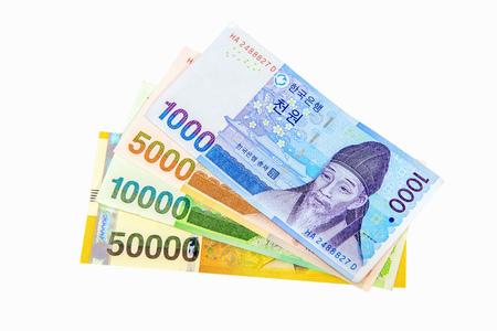 won: South Korean Won Currency.