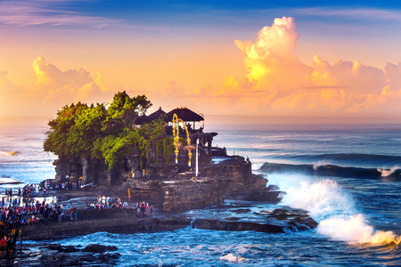 Tanah Lot Temple in Bali Island Indonesia.