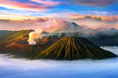 Mount Bromo volcano (Gunung Bromo)in Bromo Tengger Semeru National Park, East Java, Indonesia. Stock fotó - 83210610