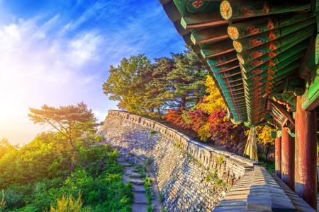 Autumn at Namhansanseong Fortress in Seoul, South Korea.