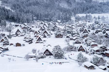 Shirakawa-go village in winter, Japan.